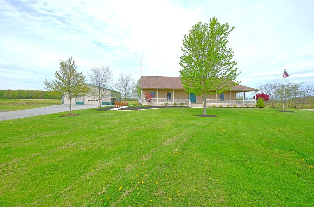 127 Acres with Home & Shop Building, Clinton County